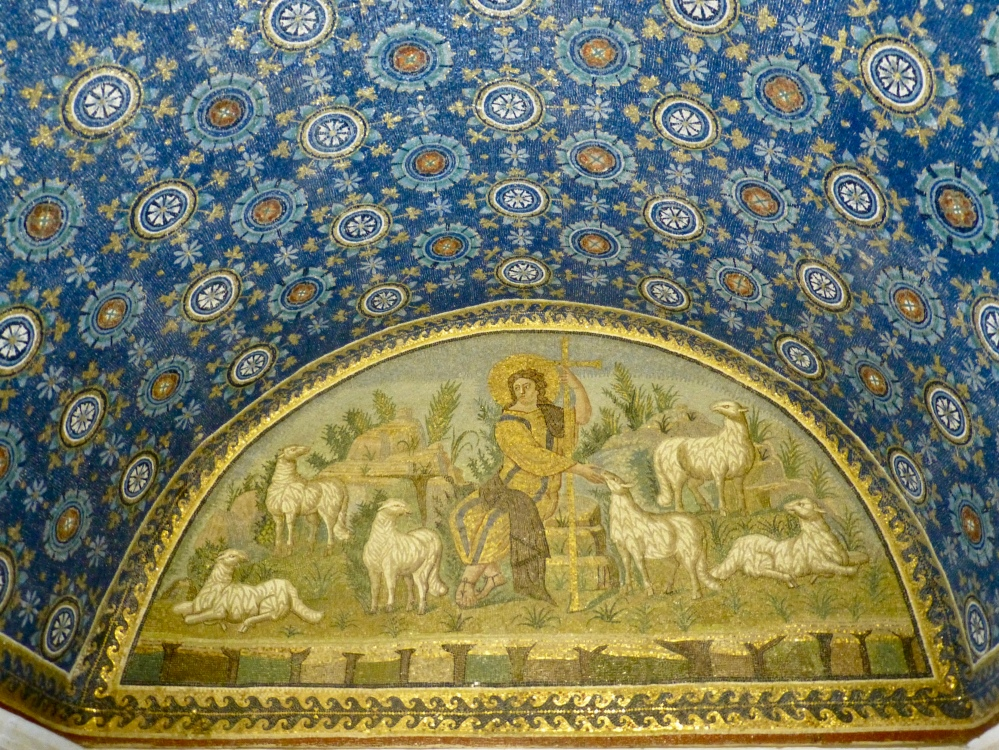 Jesus the Good Shepherd; Mausoleum of Galla Placida, Ravenna