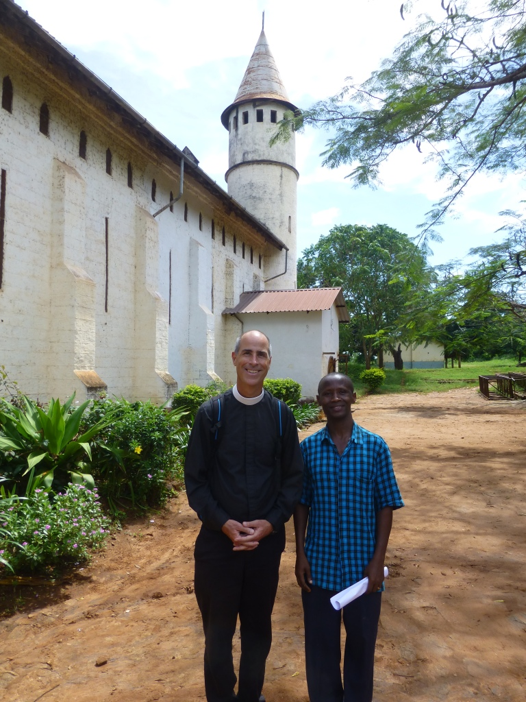 Joseph Pagano and Simon Singano at the Cathedral of St. Michael the Archangel in Korogwe, Tanzania