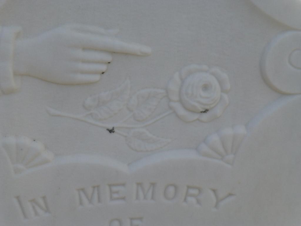 Gravestone detail in Little Brehat cemetery, Little Brehat, NL